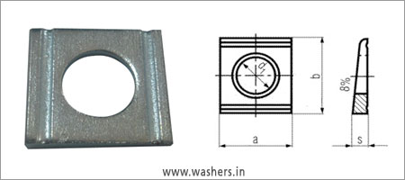 Din 434 Square Taper Washers Washers Manufacturers India